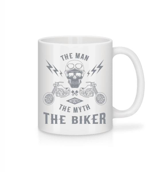 The Man The Myth The Biker - Mug - White - Vorn