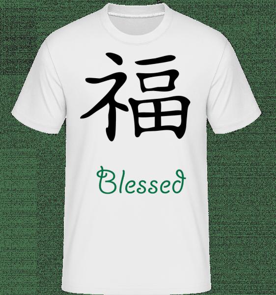 Chinese Sign Blessed -  Shirtinator Men's T-Shirt - White - Vorn