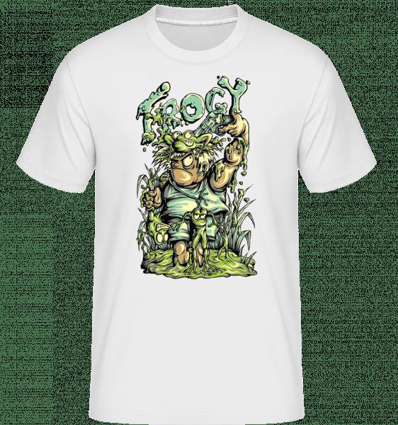Frog Hunter -  T-Shirt Shirtinator homme - Blanc - Devant