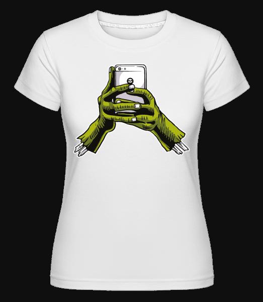Zombie Phone -  Shirtinator Women's T-Shirt - White - Vorn