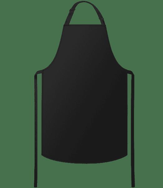 Kuchynská zástera - Čierna - Predné