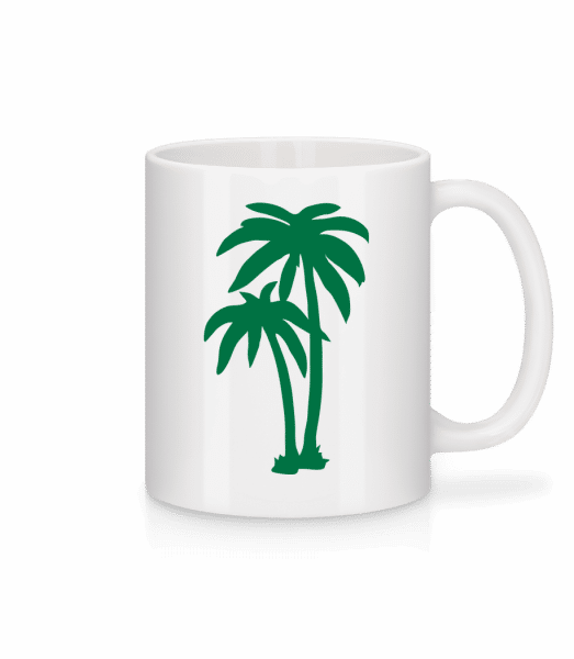 Two Palm Trees - Mug - White - Vorn