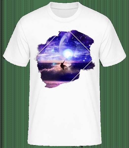 Surfeur Galactique - Basic T-Shirt - White - Vorn