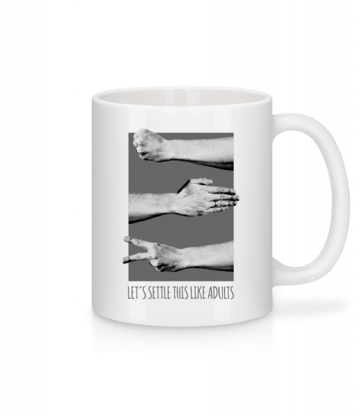 Let's Settle This Like Adults - Mug - White - Front