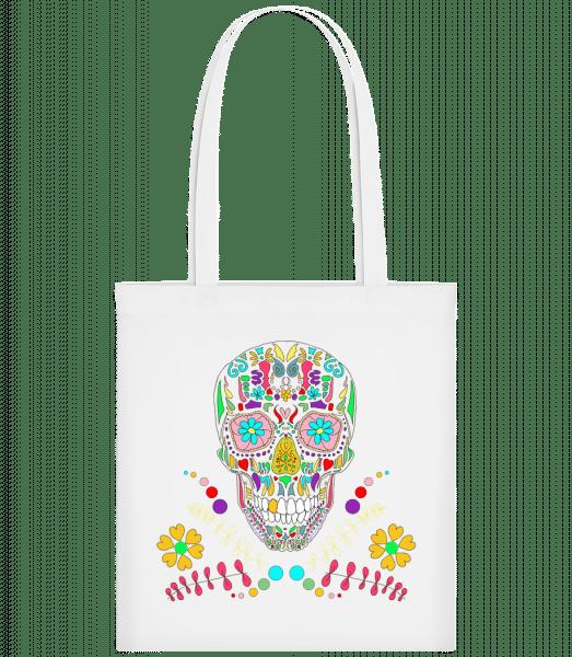 Colorful Skull - Carrier Bag - White - Vorn