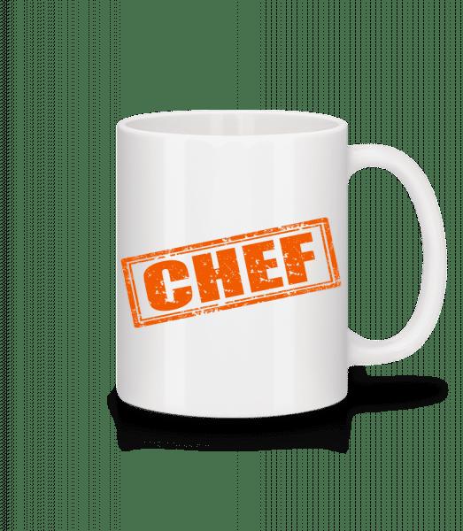 Chef Sign - Mug - White - Vorn