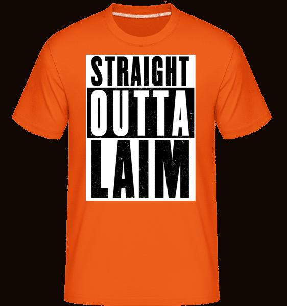 Straight Outta Laim - Shirtinator Männer T-Shirt - Orange - Vorn