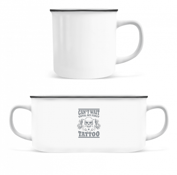 Can't Wait For My First - Enamel-cup - White - Vorn