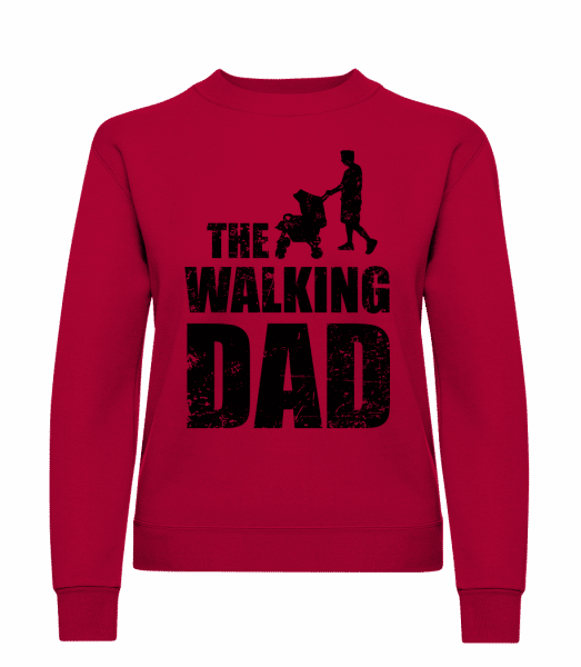 The Walking Dad - Classic Ladies' Set-In Sweatshirt - Red - Vorn