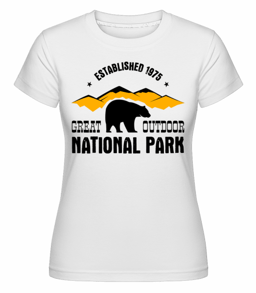 National Park Sign -  Shirtinator Women's T-Shirt - White - Vorn
