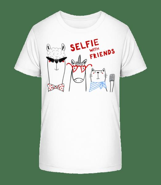 Chrliči s přáteli - Detské Premium Bio tričko - Bílá - Napřed