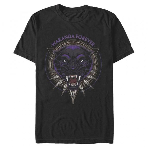 Panther Files Black Panther - Marvel Avengers - Men's T-Shirt - Black - Front