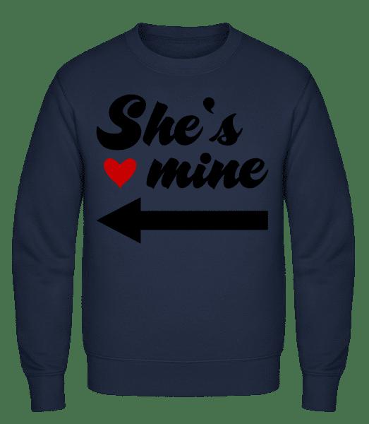 She Is Mine - Classic Set-In Sweatshirt - Navy - Vorn