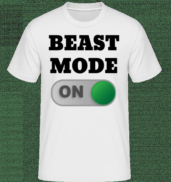Beast Mode On -  Shirtinator Men's T-Shirt - White - Front