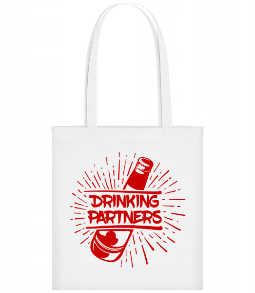 Drinking Partners - Carrier Bag - White - Vorn