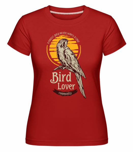 Tropical Bird -  Shirtinator Women's T-Shirt - Red - Vorn