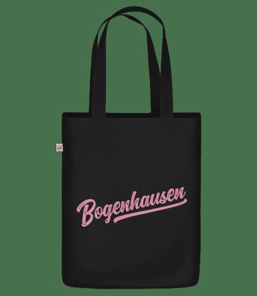 Bogenhausen Swoosh - Bio Tasche - Schwarz - Vorn