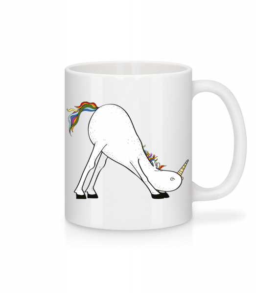 Yoga Unicorn The Slide - Mug - White - Vorn