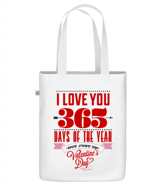 "I Love You 365 Days Of The Year - Organic ""Earth Positive"" tote bag - White - Vorn"