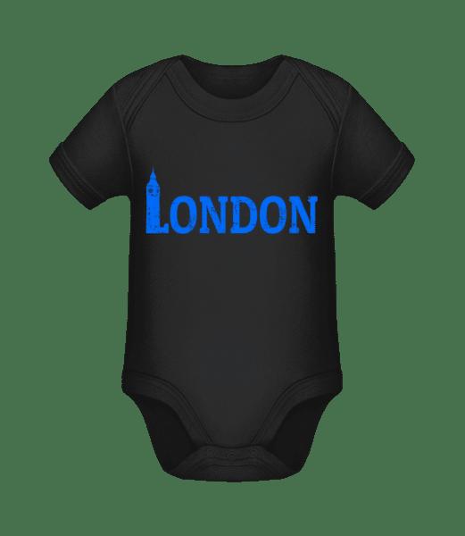 London UK - Organic Baby Body - Black - Vorn