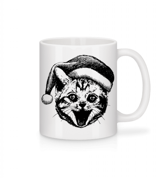 Christmas Cat - Mug - White - Vorn