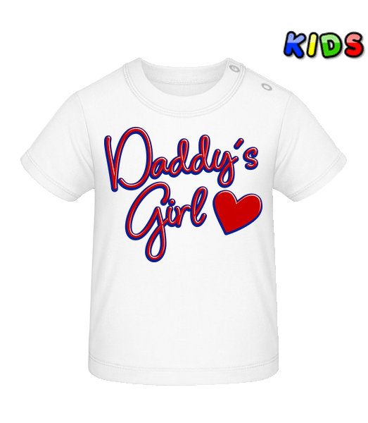 Daddy's Girl - Baby T-Shirt - White - Front