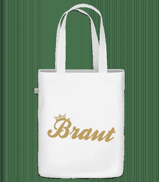 Braut Krone - Bio Tasche - Weiß - Vorn