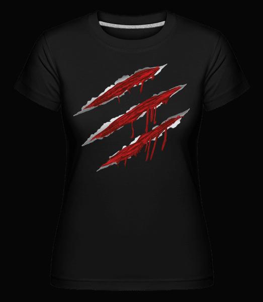 Bloody Scratches -  Shirtinator Women's T-Shirt - Black - Vorn