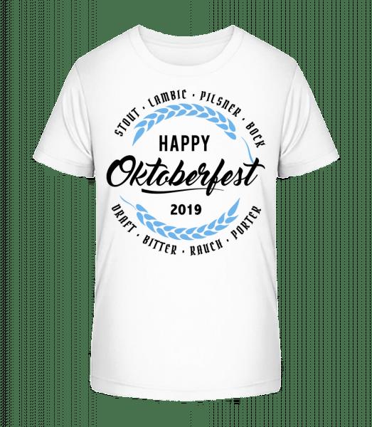 Happy Oktoberfest - Kinder Premium Bio T-Shirt - Weiß - Vorn