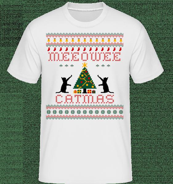 MEEOWEE Catmas -  Shirtinator Men's T-Shirt - White - Vorn
