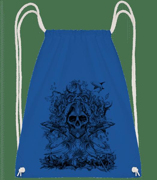 Water God Of Death - Drawstring Backpack - Royal blue - Vorn