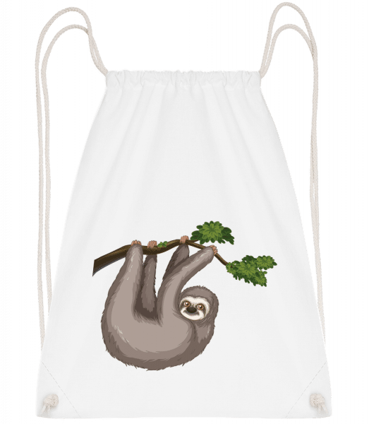 Sloth Hanging On A Branch - Gym bag - White - Vorn