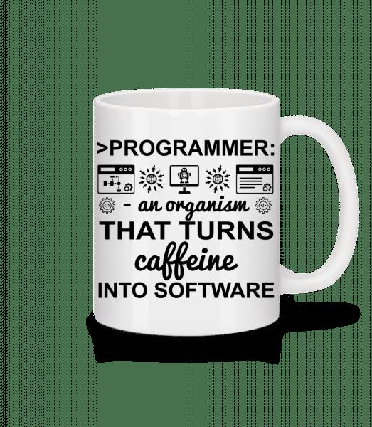 Caffeine Into Software - Mug - White - Vorn