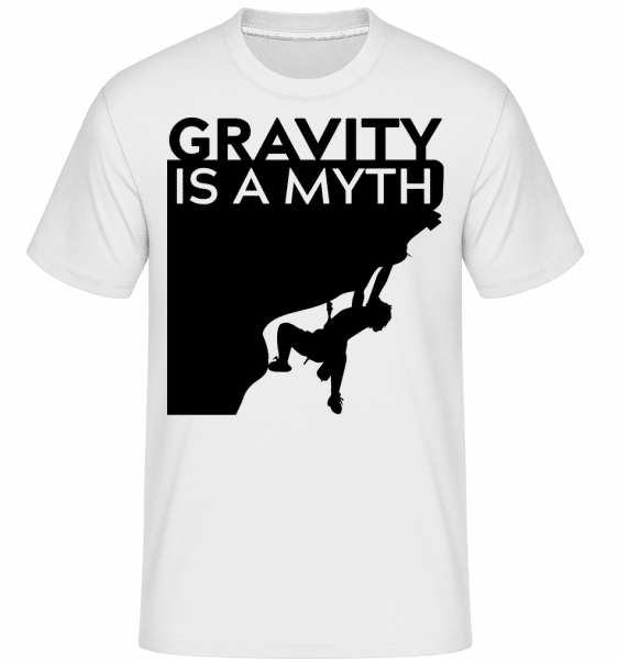 Gravity Is A Myth -  Shirtinator Men's T-Shirt - White - Vorn