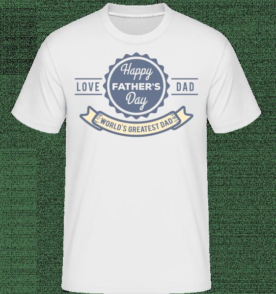 World Greatest Dad -  Shirtinator Men's T-Shirt - White - Vorn
