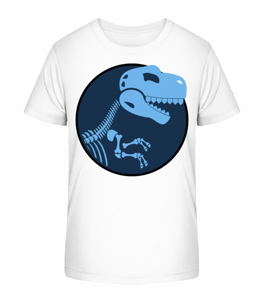 Dinosaurier Logo - Kinder Premium Bio T-Shirt - Weiß - Vorn