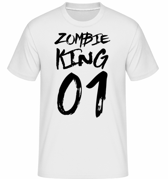 Zombie King -  Shirtinator Men's T-Shirt - White - Vorn