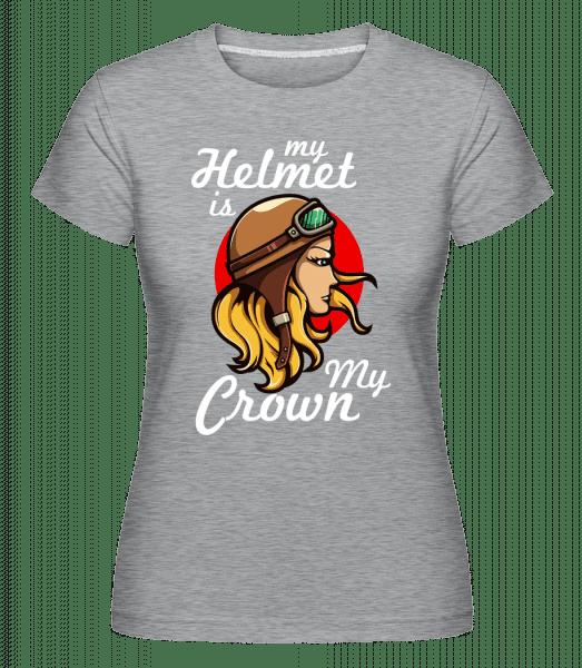 My Helmet Is My Crown -  Shirtinator Women's T-Shirt - Heather grey - Vorn