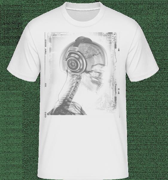 Skelett Musik - Shirtinator Männer T-Shirt - Weiß - Vorn