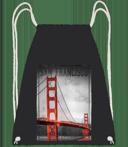 San Francisco Golden City - Drawstring Backpack - Black - Vorn
