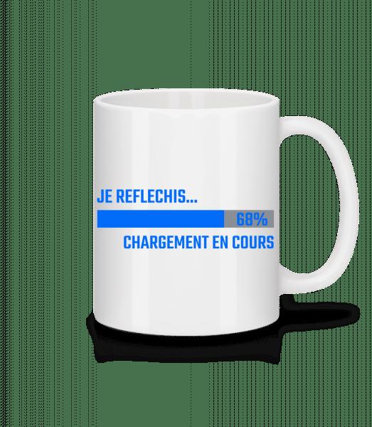 Je Reflechis Chargement - Mug en céramique blanc - Blanc - Devant