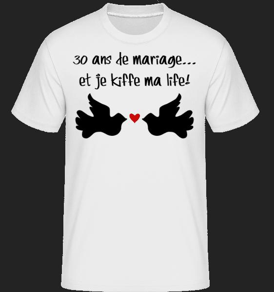 30 Ans De Mariage -  T-Shirt Shirtinator homme - Blanc - Vorn