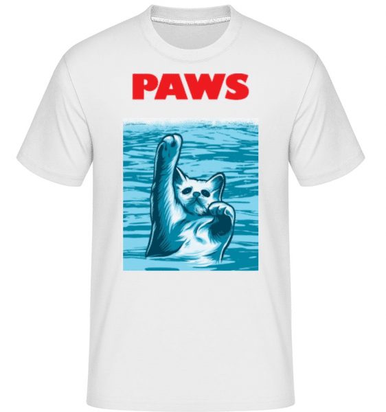 Paws -  Shirtinator Men's T-Shirt - White - Front
