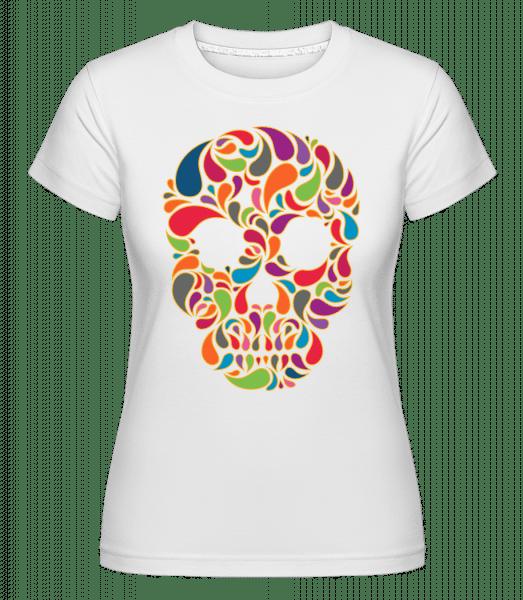 Colorful Skull - Shirtinator Frauen T-Shirt - Weiß - Vorn