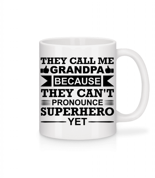 Grandpa Superhero - Mug - White - Vorn