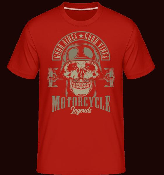 Good Rides Good Vibes -  Shirtinator Men's T-Shirt - Red - Vorn