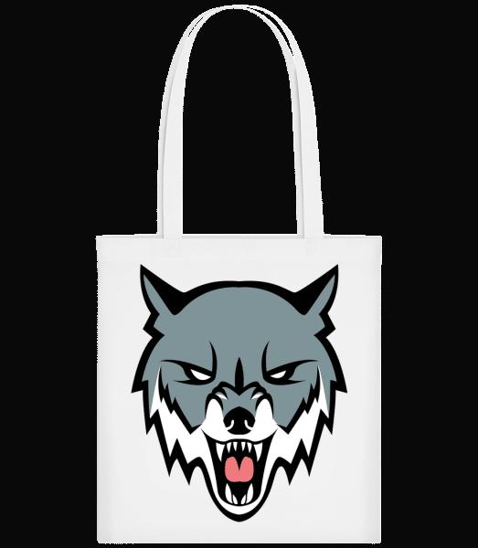 Grimmiger Wolf - Carrier Bag - White - Vorn