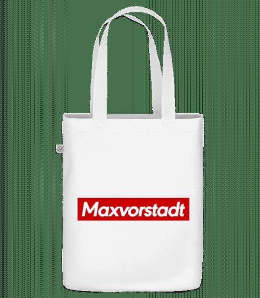 Maxvorstadt - Bio Tasche - Weiß - Vorn