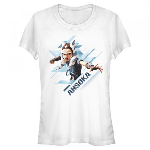 Ahsoka Angled - Star Wars Clone Wars - Women's T-Shirt - White - Front