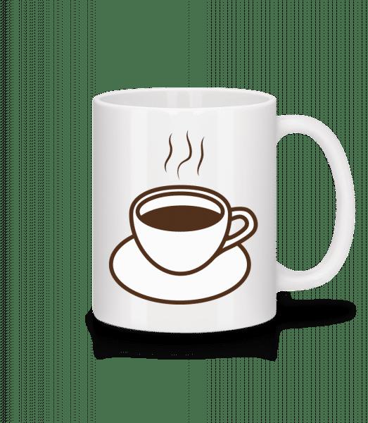 Kaffee - Tasse - Weiß - Vorn
